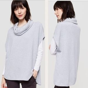 Lou & Grey Sleeveless Cowl Neck Poncho